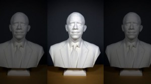 3d-printed obama portrait